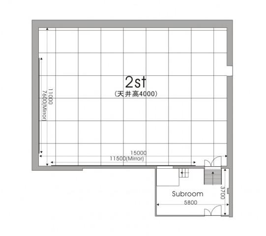 羽田スタジオ 2st レイアウト図