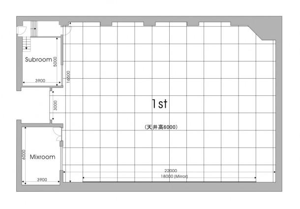 羽田スタジオ 1st レイアウト図